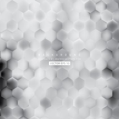 Abstract Light Gray Hexagon Background Pattern