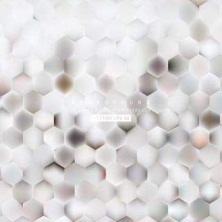 Abstract White Hexagon Background Template