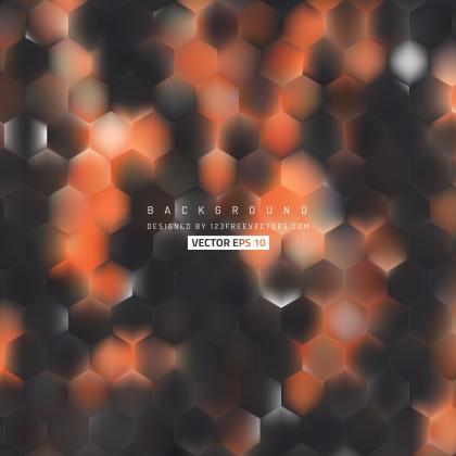 Abstract Black Orange Hexagon Pattern Background Design