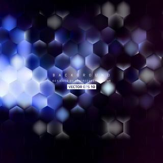 Purple Black Hexagon Background Template