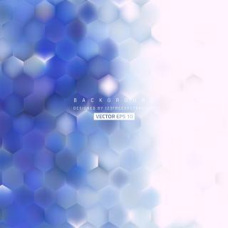 Blue Purple Hexagon Background Template