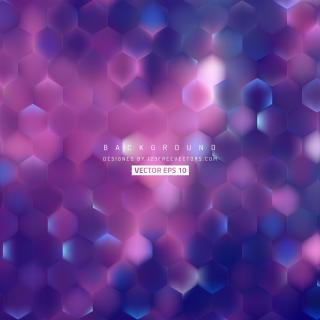 Abstract Blue Purple Hexagon Geometric Background