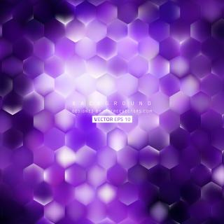 Abstract Violet Hexagon Background Template