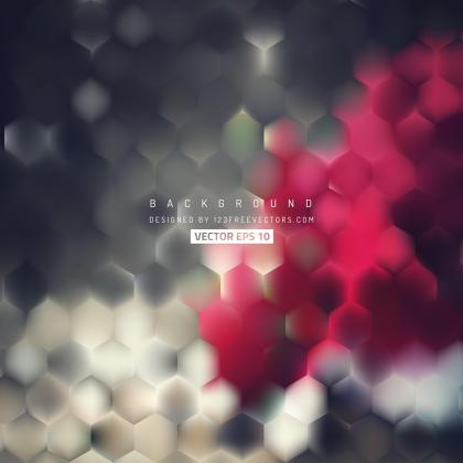 Abstract Red Gray Hexagon Geometric Background
