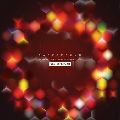Abstract Dark Red Hexagon Geometric Background