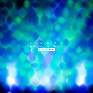 Abstract Turquoise Blue Hexagon Background Pattern