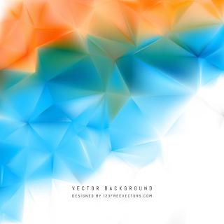 Abstract Blue Orange Low Poly Background