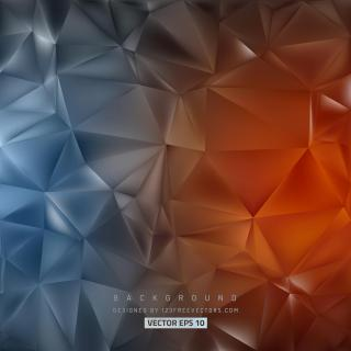 Dark Blue Red Polygon Triangle Background