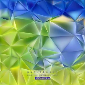 Blue Green Polygon Pattern Background