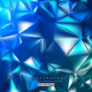 Dark Blue Geometric Polygon Background