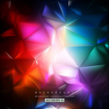 Colorful Polygon Triangle Pattern Background