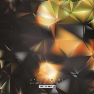 Abstract Dark Color Low Poly Background