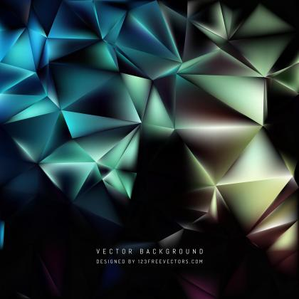 Dark Color Polygonal Background Design