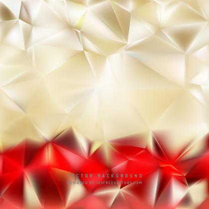 Abstract Red Gold Polygon Triangle Pattern Background