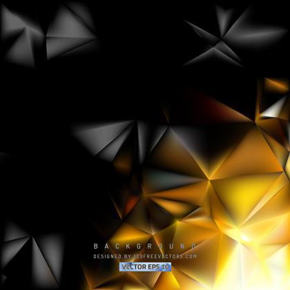 Black Orange Polygonal Background Design