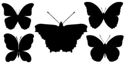 Butterfly Silhouettes Free Vector