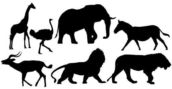 Animal Silhouettes Free Vector Image