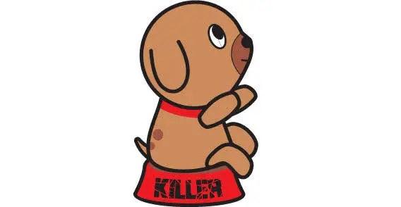 Cartoon dog free vector