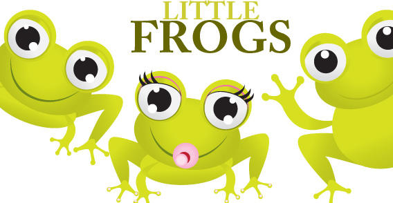 Little Frogs free vector