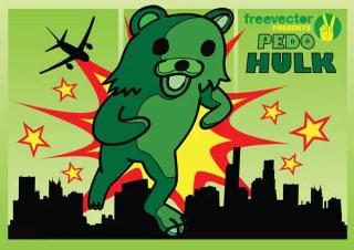 Pedo Hulk free vector
