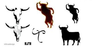 Bull skull flamenco