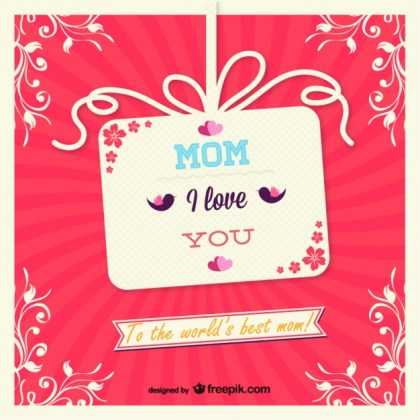 Mother's Day Gift Card Design Free Vector
