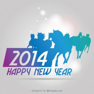 2014 Background New Year Zodiacal Sign Free Vector