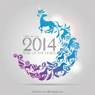 2014 Horse Year Free Vector
