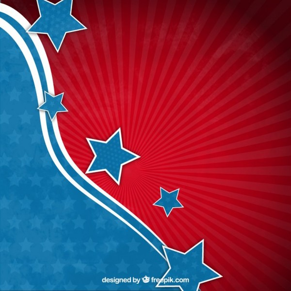Abstract American Flag Background Free Vector