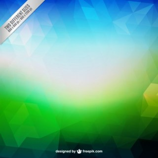 Abstract Background in Blue and Green Tones Free Vector