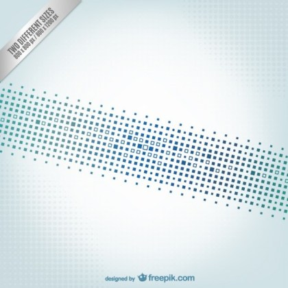 Abstract Background with Blue Squares Free Vector