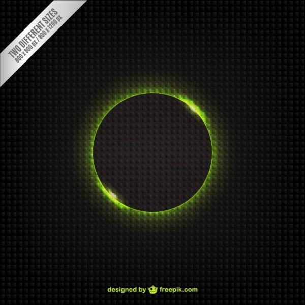 Abstract Background with Green Circle Free Vector