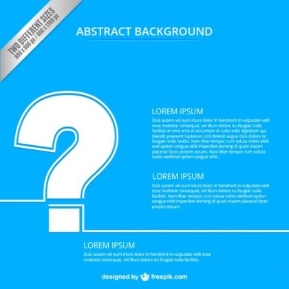 Abstract Background with Question Mark Free Vector