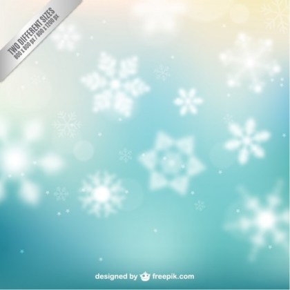 Abstract Background with Snowflakes Free Vector
