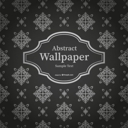 Abstract Black and White Thai Wallpaper Free Vector
