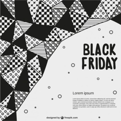 Abstract Black Friday Template Free Vector