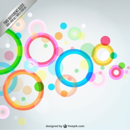 Abstract Bubbles Background Free Vector