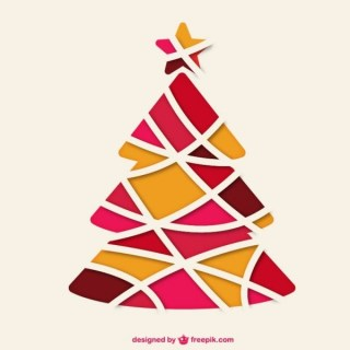 Abstract Christmas Tree Free Vector