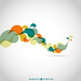 Abstract Color Swirls Background Free Vector