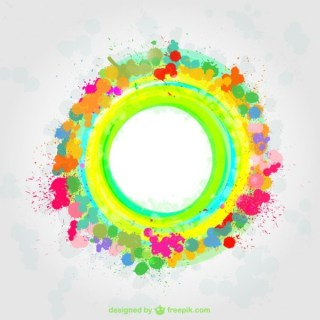 Abstract Colorful Paint Splatter Background Free Vector