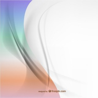 Abstract Composition Curvy Lines Background Free Vector
