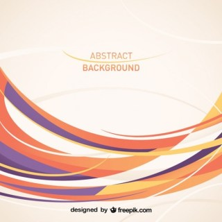 Abstract Curved Lines Design Free Vector