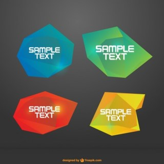 Abstract Frames Pack Free Vector