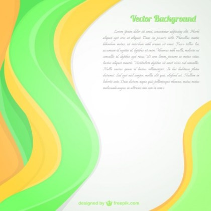 Abstract Fresh Green Background Free Vector