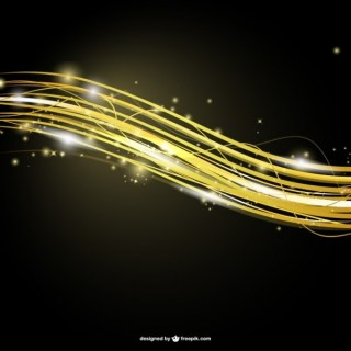 Abstract Golden Stripes Template Free Vector