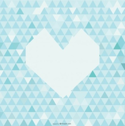 Abstract Heart Background Free Vector