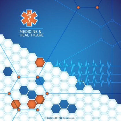 Abstract Medical Background Design Free Vector