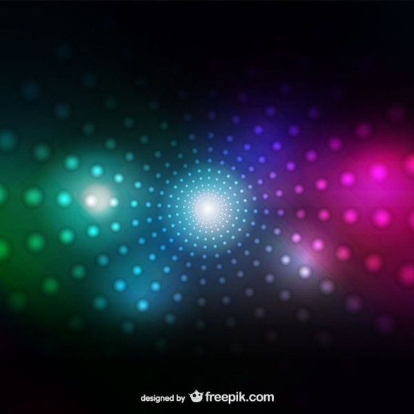 Abstract Neon Background Free Vector