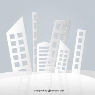 Abstract Paper Buildings Design Free Vector