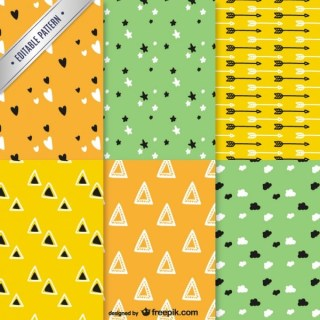 Abstract Patterns Pack Free Vector